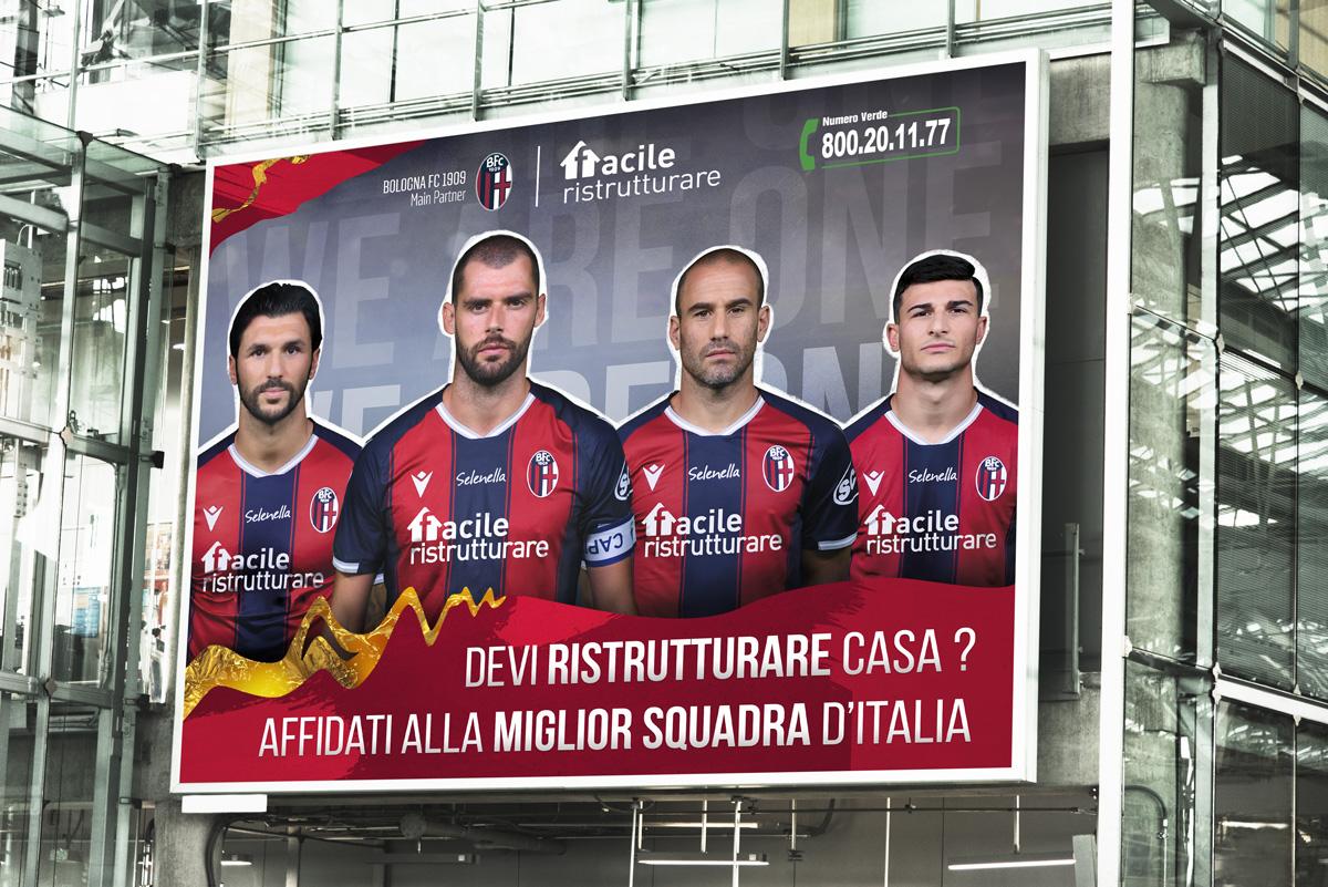 Cartelloni stradali Bologna FC 1909 Facile Ristrutturare