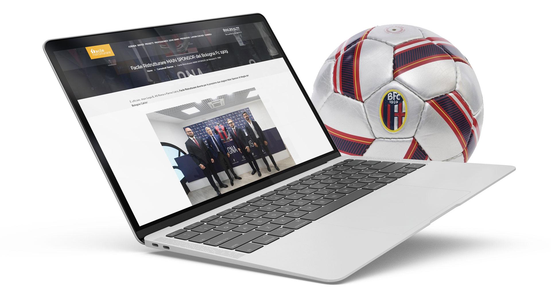 Laptop e pallone Bologna FC 1909