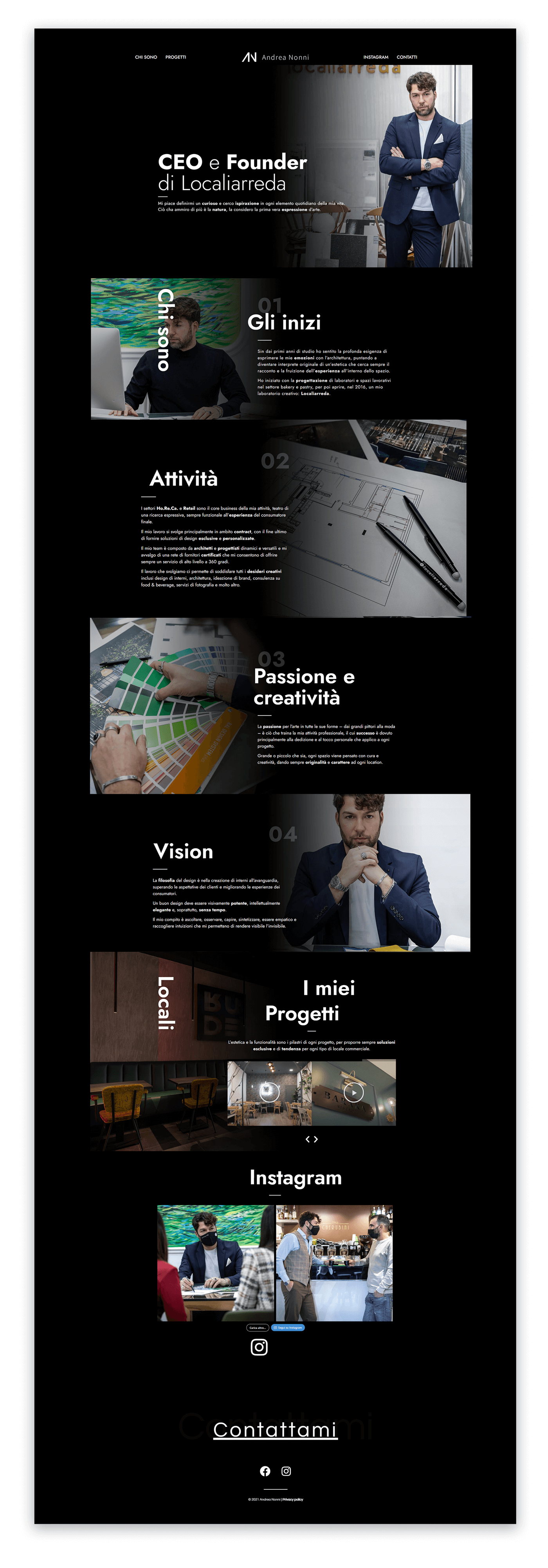 Sito web Andrea Nonni personal branding