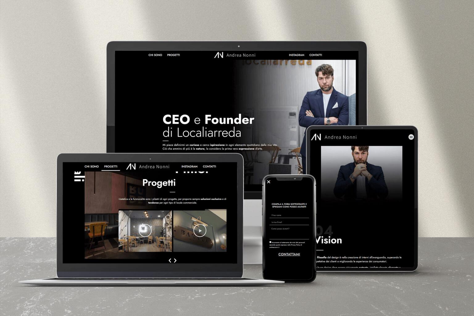 Computer tablet smartphone iPhone Andrea Nonni sito personal branding